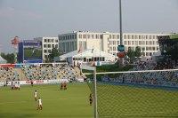 Temporäre Gebäude von Neptunus für Hockey-EM