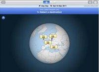 Neue Flugsuche-App mit interaktivem Globus