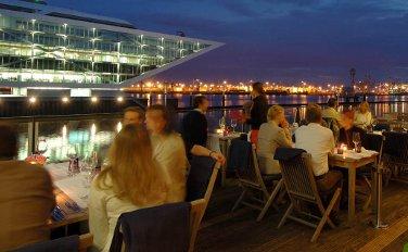 Das Au Quai am Hamburger Hafen