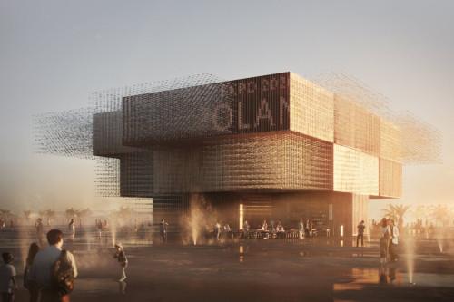 Polnischer Pavillon (Rendering: Vivid Vision/Bellprat Partner)