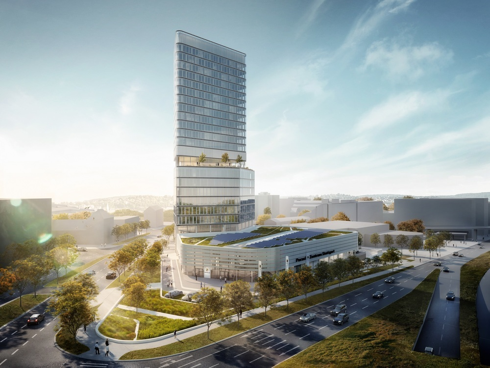 Grundsteinlegung für Porsche Design Tower und Porsche Zentrum Stuttgart