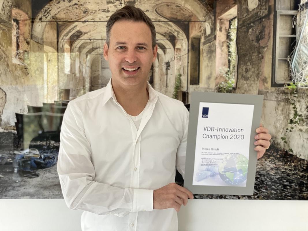 Proske wurde zum ersten VDR Innovation Champion gekürt