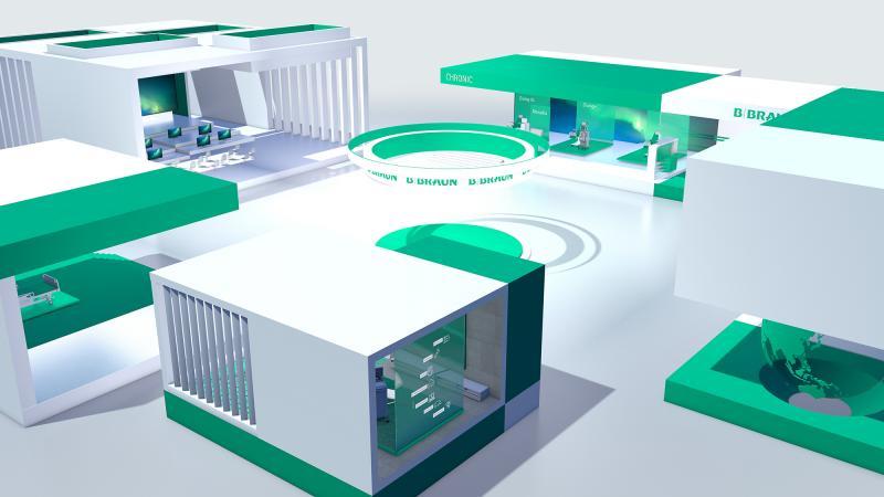 sxces kreiert virtuelle Messewelt für B. Braun