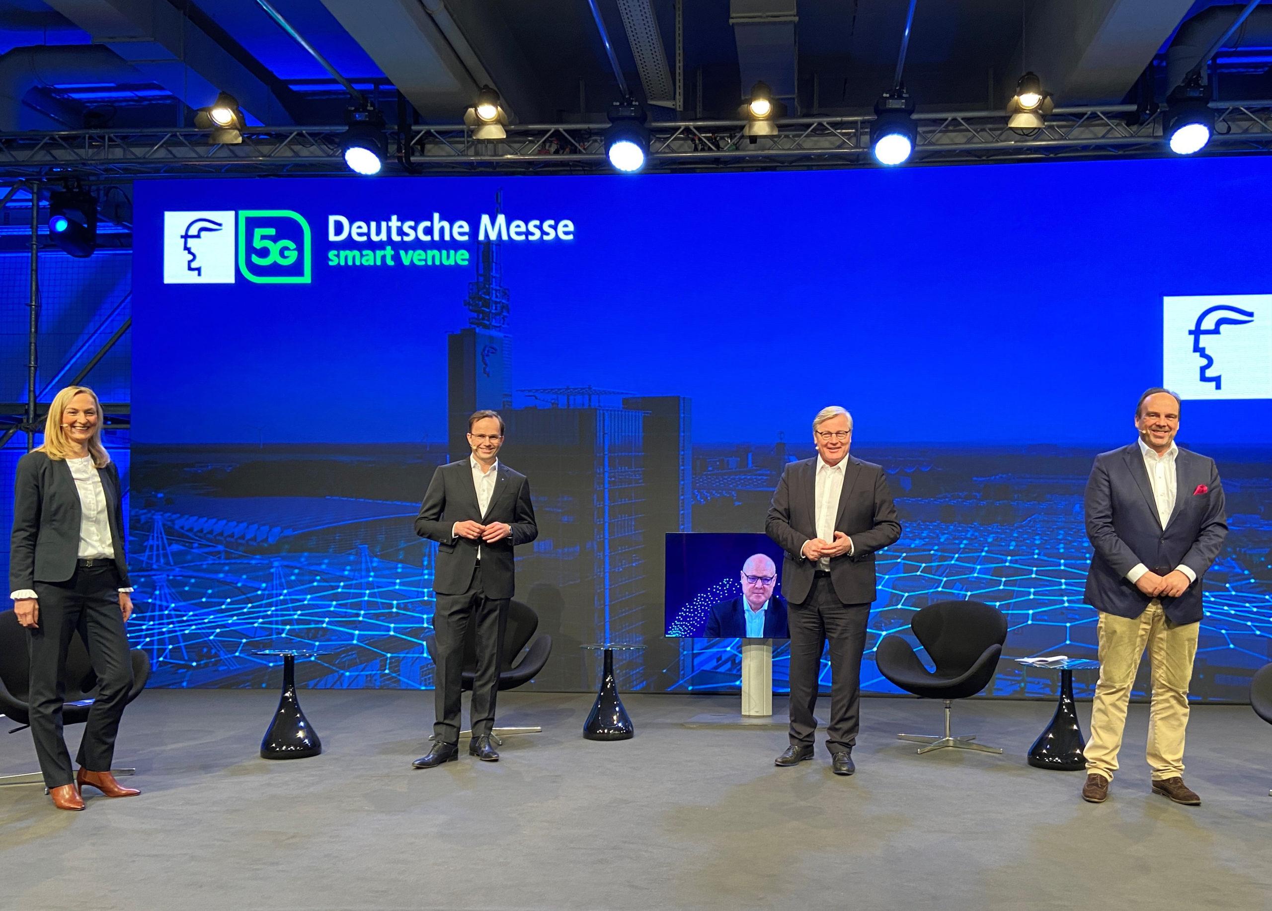 Pressekonferenz in Hannover (Foto: Deutsche Messe)