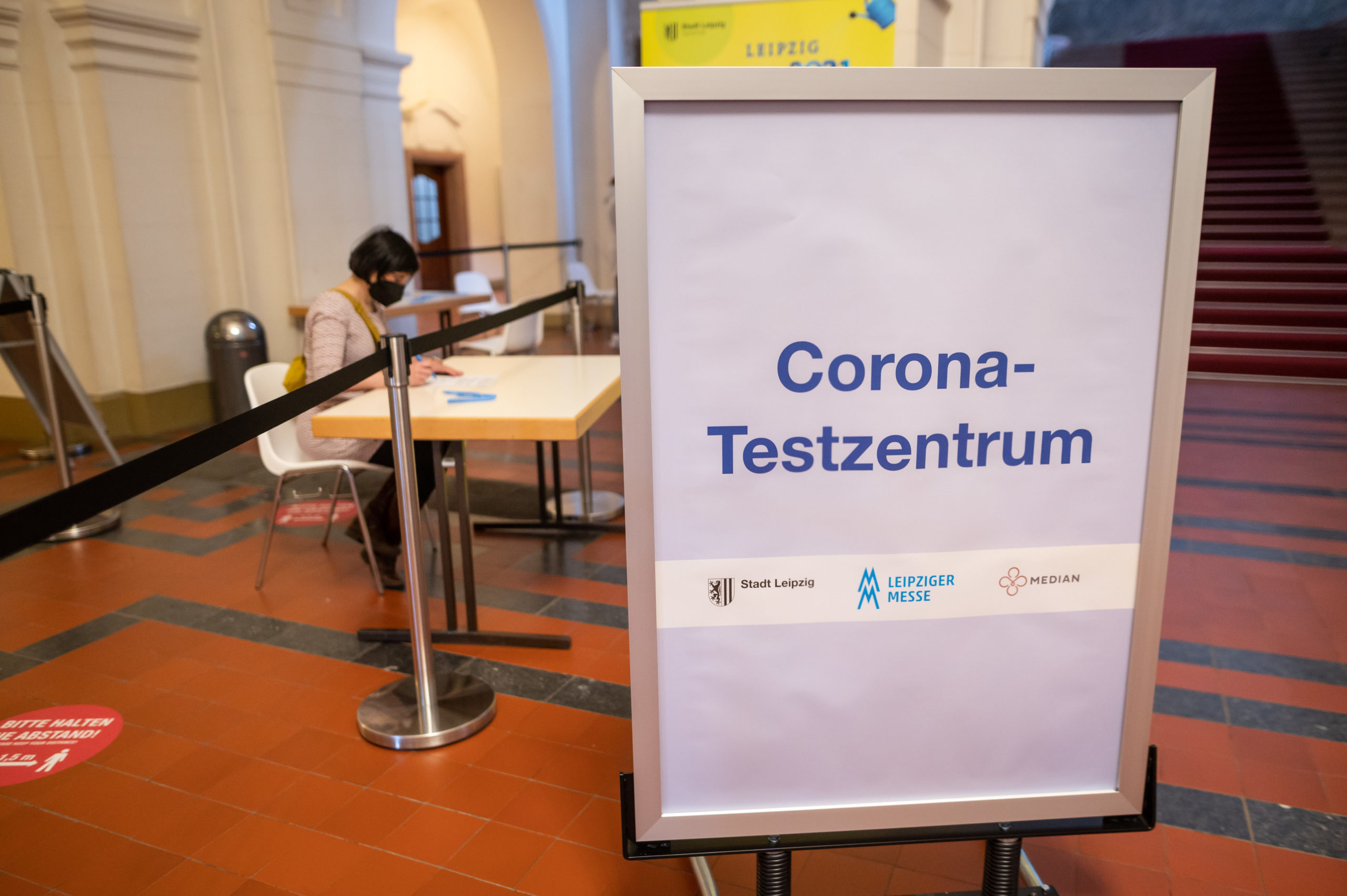 Testzentrum (Foto: Leipziger Messe)