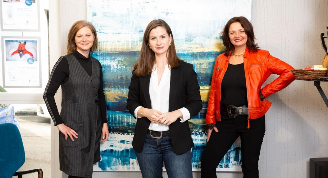 Barbara Steiner, Tanja Fleischanderl und Carina Felzmann (von links, Foto: Comexposium)