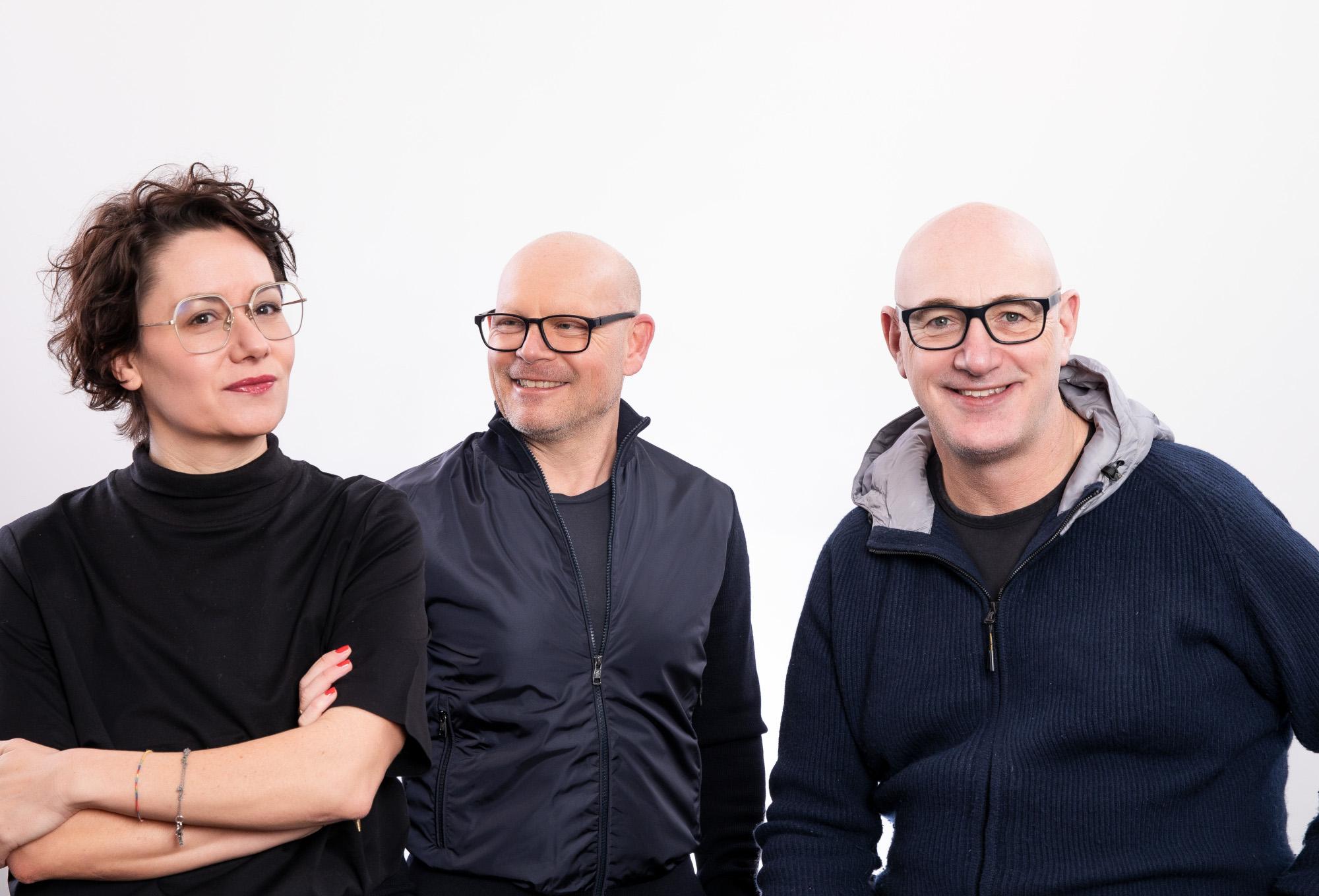 Meike Finkelnburg, Peter Gross und Dietmar Axt (von links, Foto: Designplus)