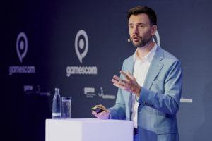 Felix Falk bei der Pressekonferenz zur gamescom 2020