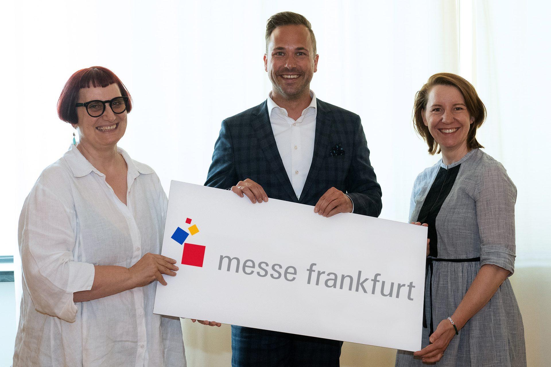 Nicolette Naumann, Philipp Ferger, Julia Uherek (von links, Foto: Messe Frankfurt)