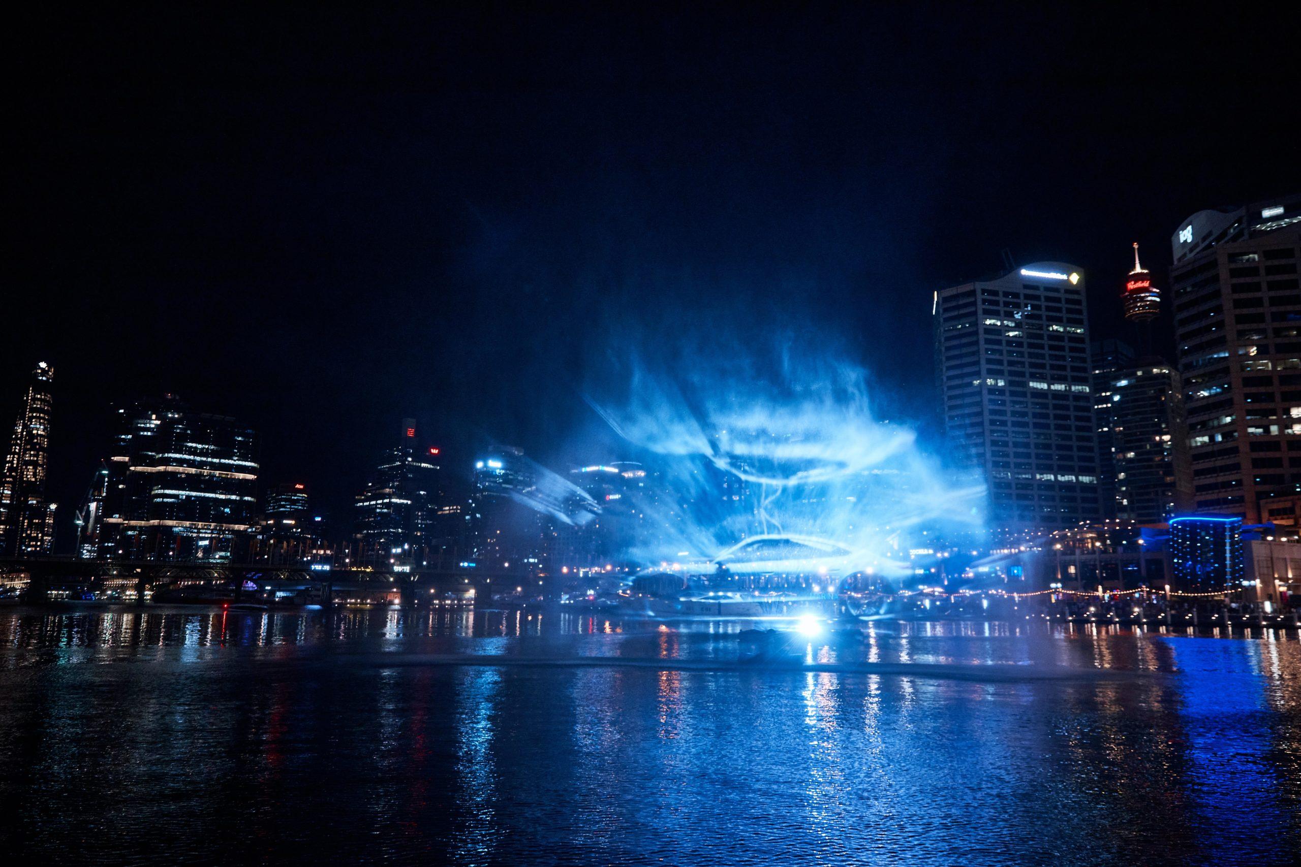 Projektions-Show in Sydney (Fotos: Porsche)
