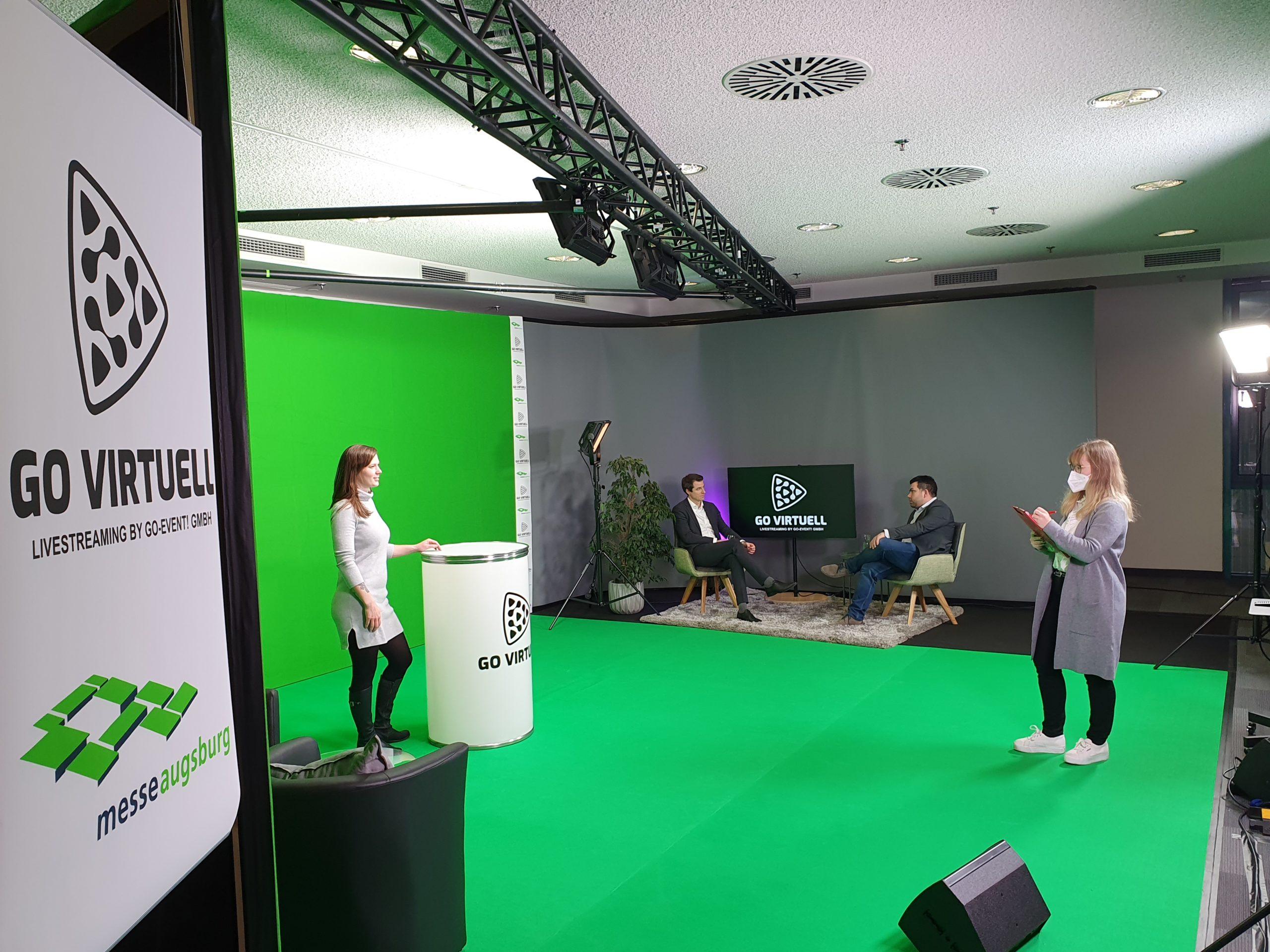 Green Screen Studio (Fotos: Augsburger Schwabenhallen Messe- und Veranstaltungsgesellschaft mbH)
