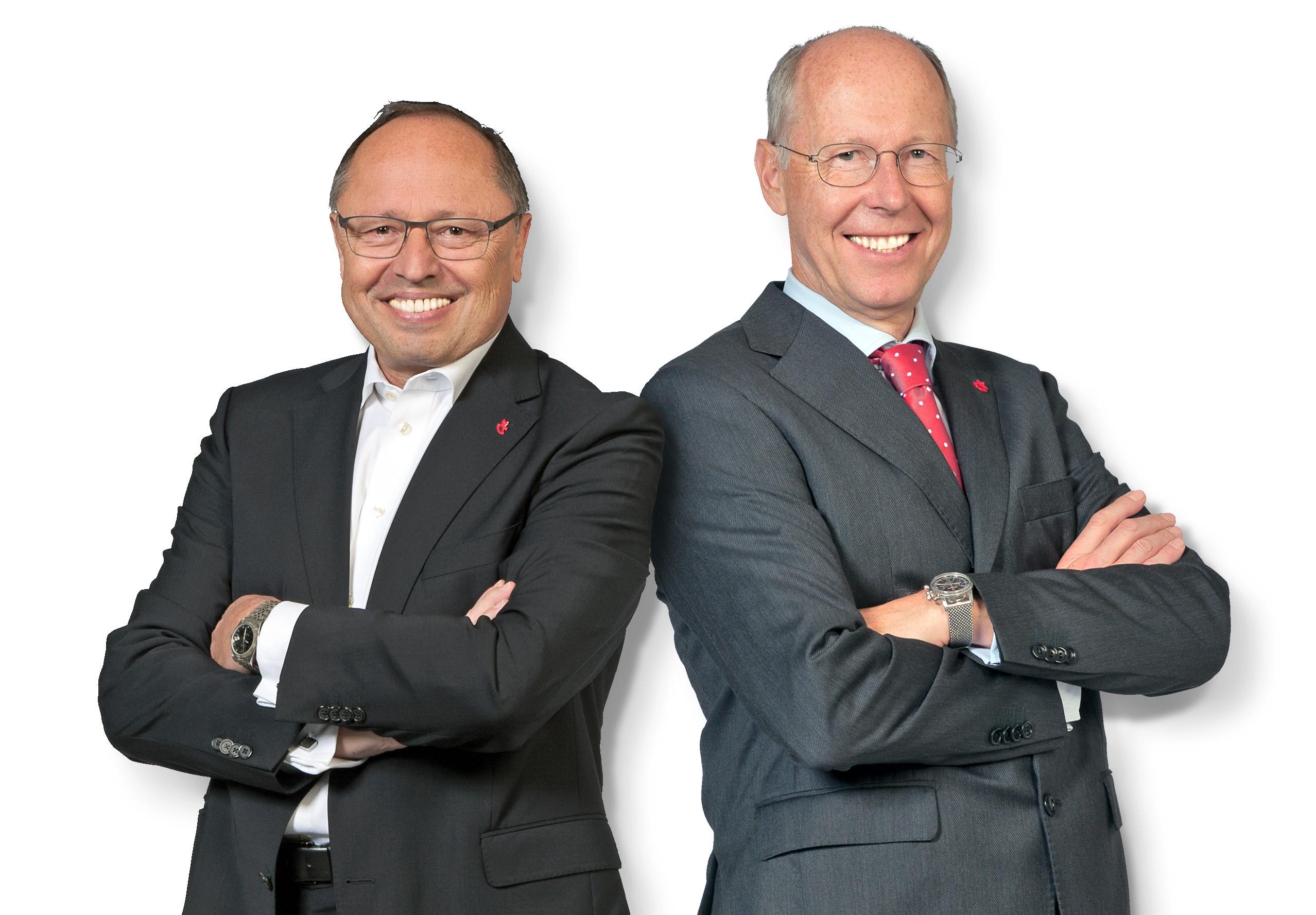 Ernst Kick, Dr. Hans-Juergen Richter (von links, Foto: Spielwarenmesse eG/Peter Dörfel)