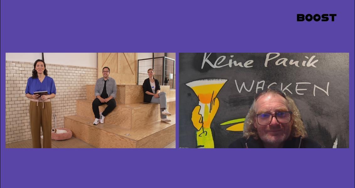 Panel mit Markus Lorenz, Tina Stolle und Wacken-Mitgründer Holger Hübner (Foto: Boost)