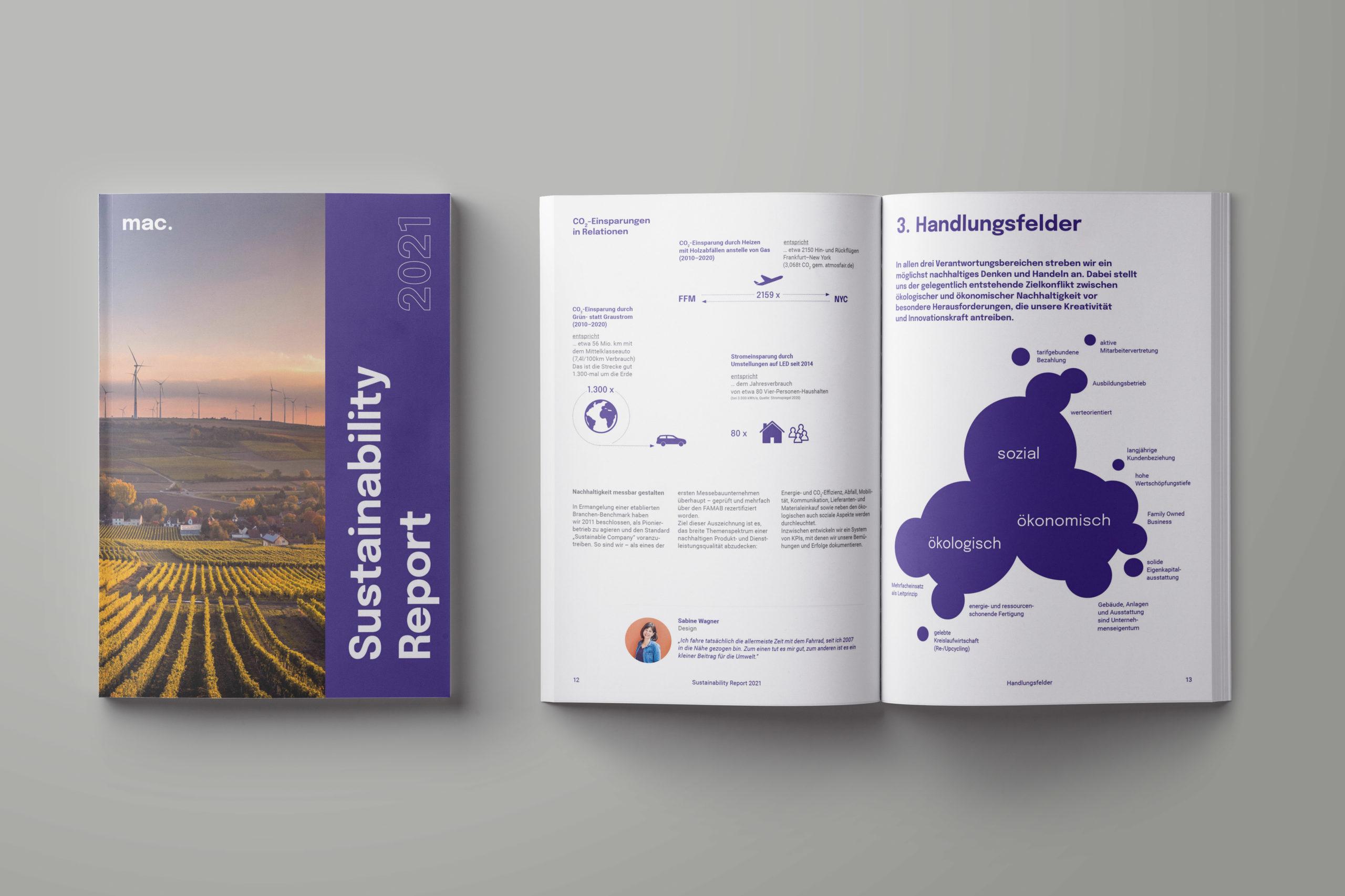Sustainability Report 2021 (Fotos: mac messe- und ausstellungscenter Service GmbH)