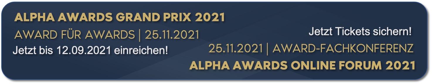 alpha awards Grand Prix