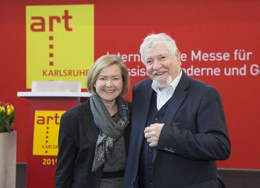 Britta Wirtz und Ewald Karl Schrade (Foto: Messe Karlsruhe/Jürgen Roesner)