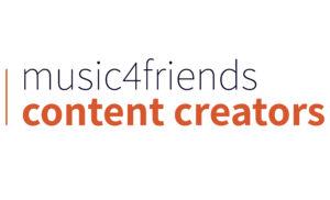 music4friends Content Creator Logo