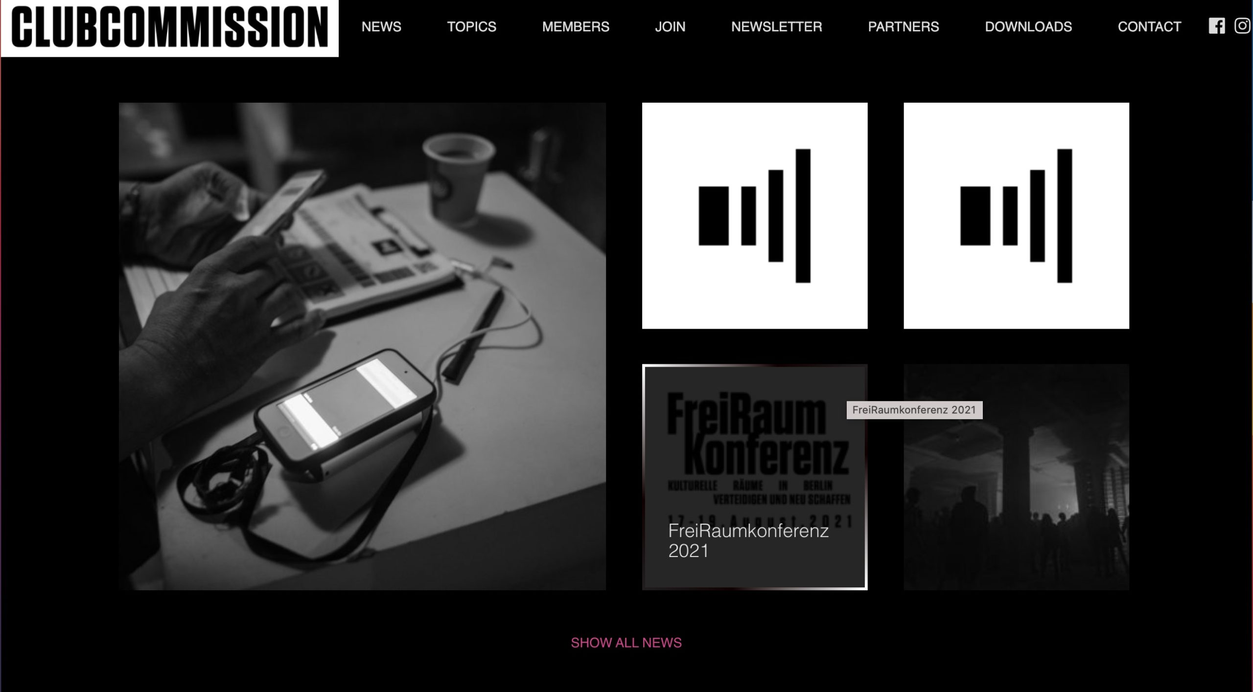 Website Clubcommission