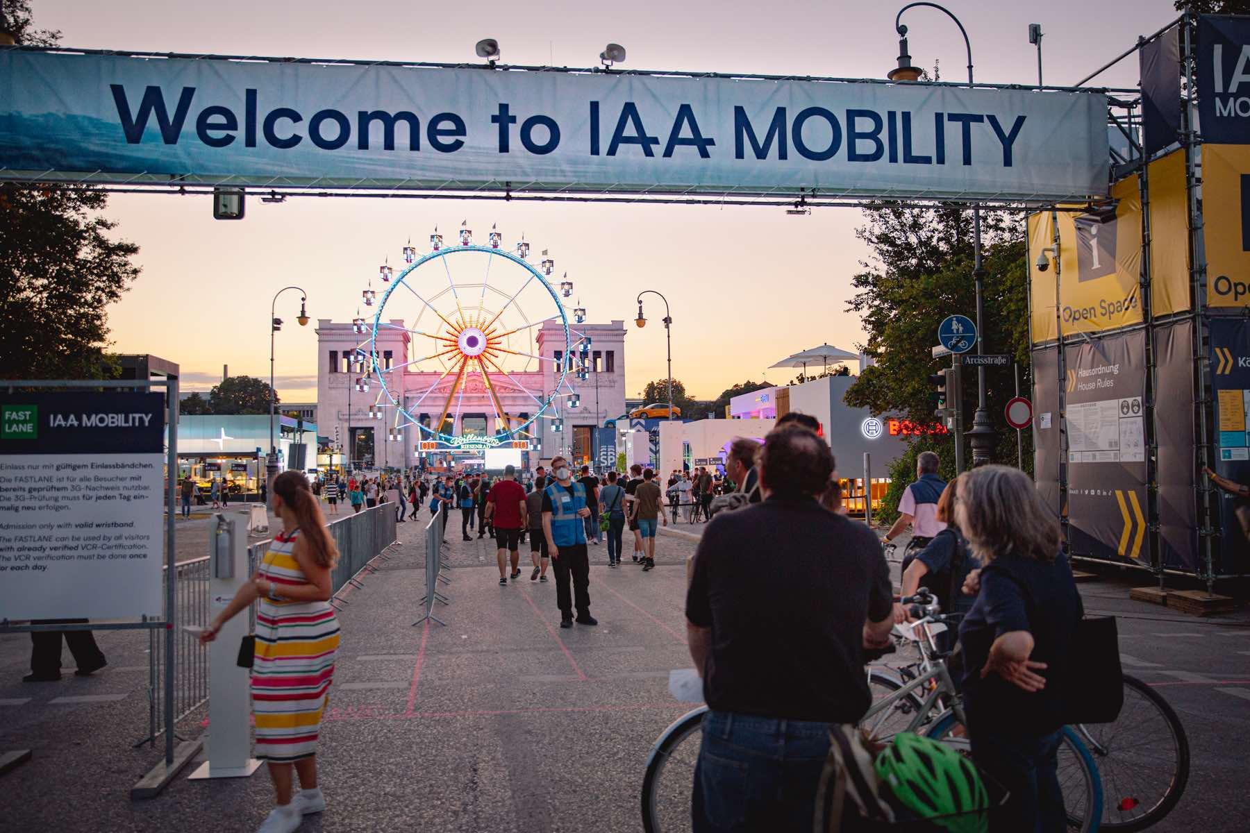 IAA Mobility 2021 in der Münchner Innenstadt