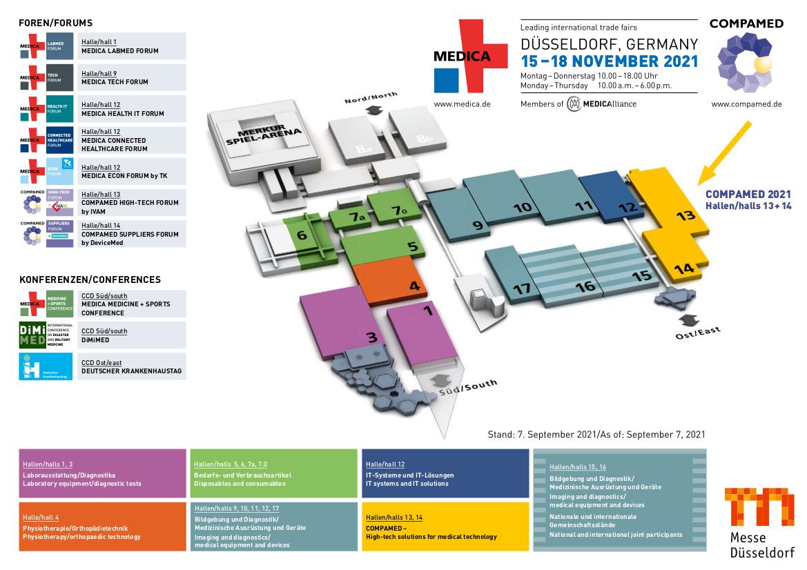 Geländeplan (Quelle: Messe Düsseldorf)