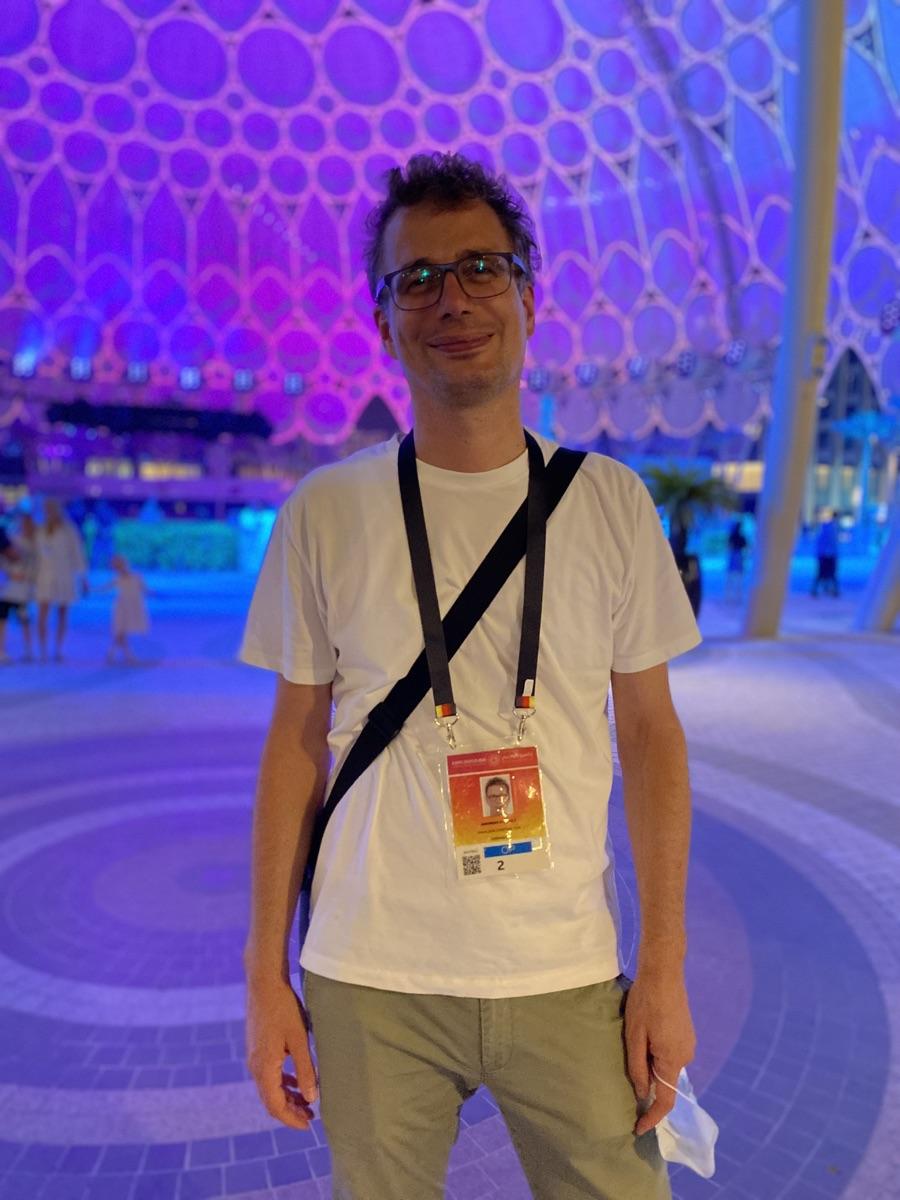 Andreas Horbelt von facts and fiction berichtet über die EXPO Dubai