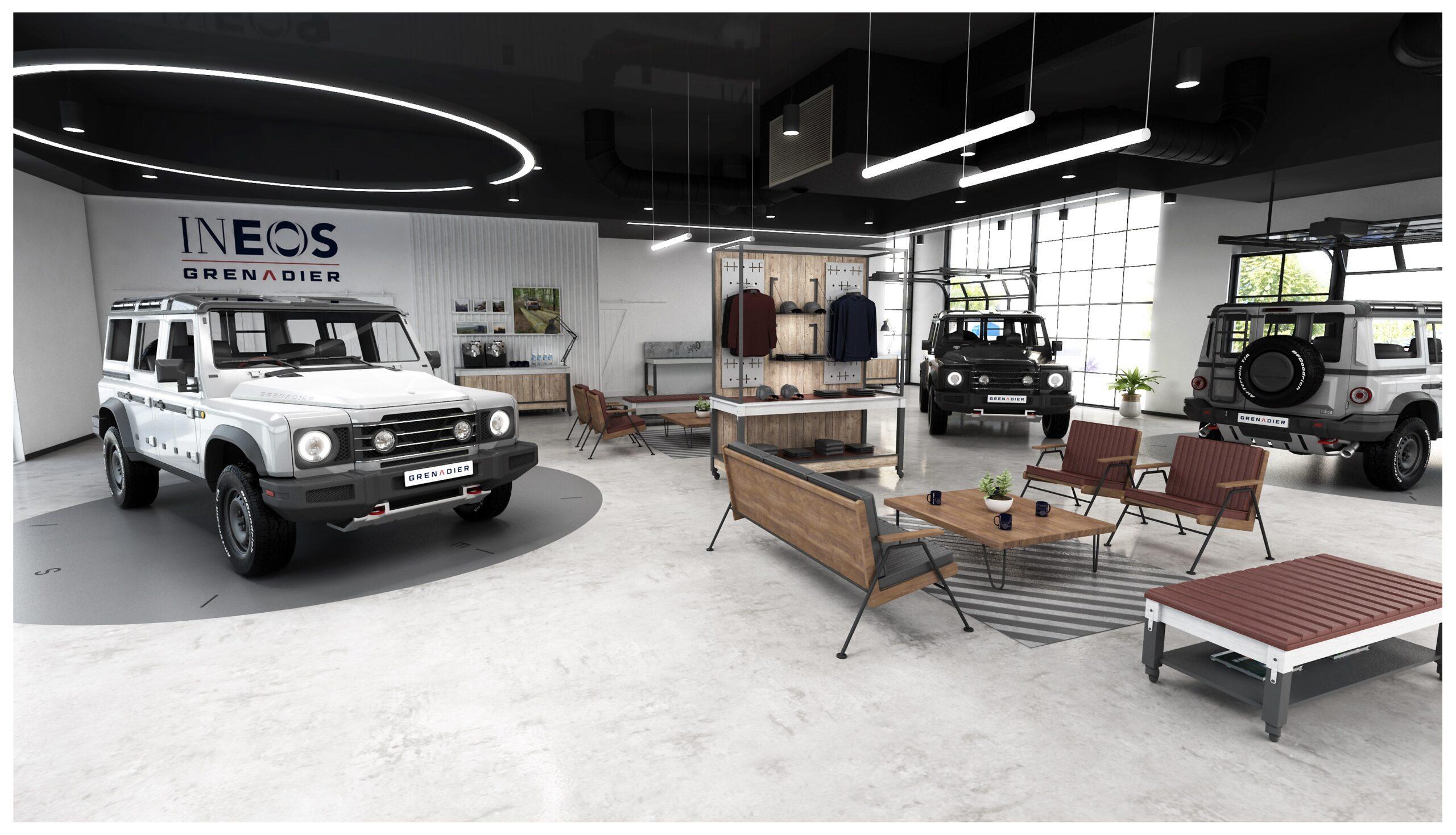 Retail-Konzept für den Grenadier (Fotos: Ineos)