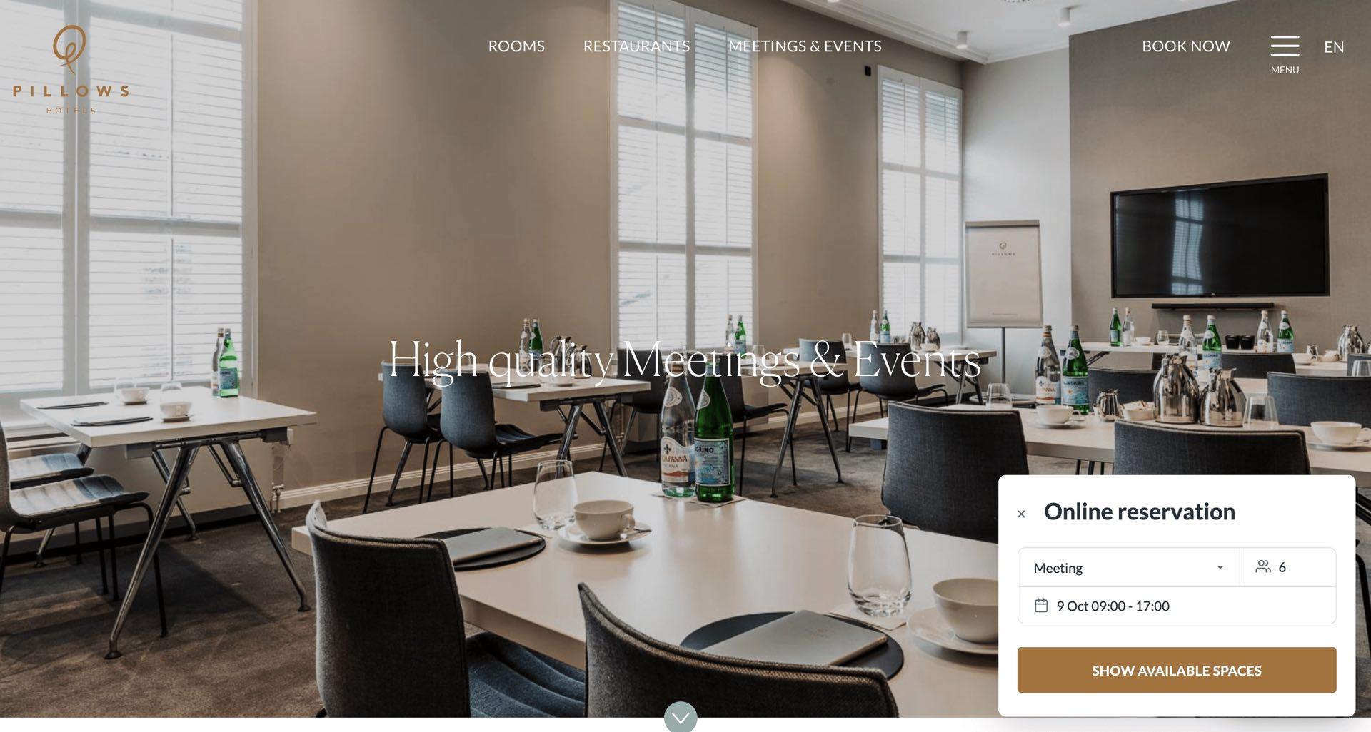 Venuesuite stellt Widget für MICE-Bookings vor