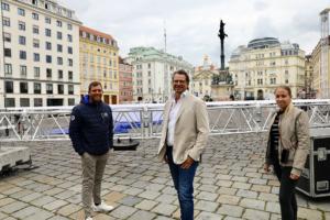 Andreas Martin (PMC), Ronny Rockenbauer (Pubbles Film) und Lara Fruhstorfer (PMC)